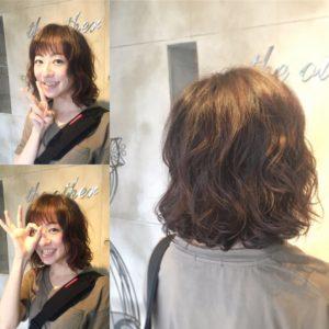 秋髪パーマスタイル